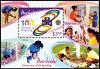 Barbades - Scoutisme - centenaire des guides - Bloc-feuillet neuf