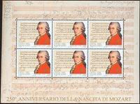 Vatikanet - Mozart - Postfrisk miniark