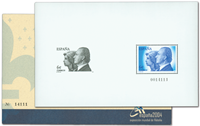 Spain - Exhibition sheet Valencia'04 - Mint souvenir sheet with engravure