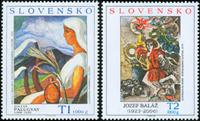 Slovakiet - Kunst - Postfrisk sæt 2v