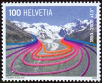 Switzerland - Global heating - Mint stamp