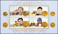 Kazakhstan - Medaljevindere - Postfrisk miniark