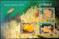 Jersey - Koraller - Postfrisk miniark