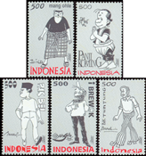 Indonesia - Cartoons - Mint stamps