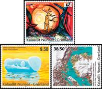 Greenland - Modern art - Mint set 3v.