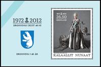 Groenland - Reine du Danemark 40 ans de règne - Bloc-feuillet neuf