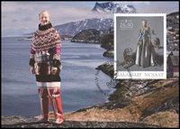 Groenland - Reine du Danemark 40 ans de règne - Cartes Maximum