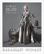 Groenland - Reine du Danemark 40 ans de règne - Timbre neuf