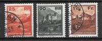 Liechtensten 1933 - AFA 119-121 - Leimattu