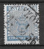 Suède 1855 - AFA 2 - Oblitéré