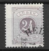 Suède 1877 - AFA Po 7Ba - Oblitéré