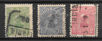Norge 1907 - AFA 67-69 - stemplet