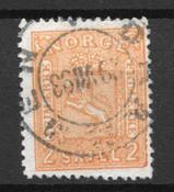 Norvège 1867 - AFA 12 - Oblitéré
