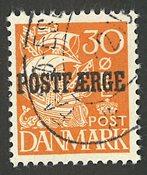 Danmark - Postfærge - AFA 26 - stemplet