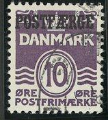 Danmark - Postfærge - AFA 22- stemplet