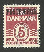 Danmark - Postfærge - AFA 28 - Stemplet