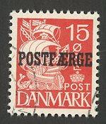 Danmark - Postfærge - AFA16 - Stemplet