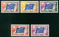 Frankrig - Tjenestemærker - YT 17-21 - Postfrisk