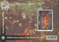 Malta - 2000 året for St. Pauls fødsel - Postfrisk miniark