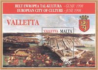Malta - Ville de la Culture - Bloc-feuillet neuf