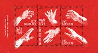 Danemark - Mains, art - Bloc-feuillet neuf