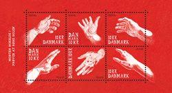 Danmark - Hænder kunst - Postfrisk miniark
