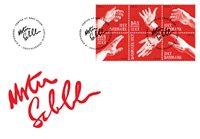 Danemark - Mains, art - Env. 1er jour avec timbre