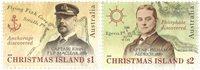 Christmas Island - Opdagelsesrejsende - Postfrisk sæt 2v