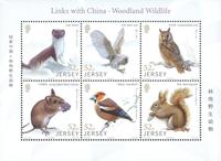Jersey - Skovens dyr - Postfrisk miniark 6v