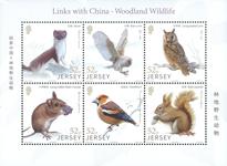 Jersey - Forest animals - Mint souvenir sheet 6v