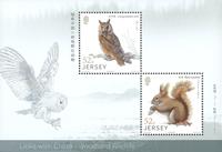 Jersey - Skovens dyr - Postfrisk miniark 2v