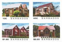 Barbados - Chattel Houses - Postfrisk sæt 4v