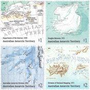 Antarctique Australien - Cartes - Série neuve 4v