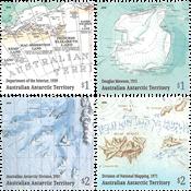 Australsk Antarktis - Kort - Postfrisk sæt 4v