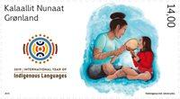 Grønland - FNs dag for Oprindelige folk - Postfrisk frimærke