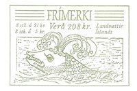 Islande - AFA 713-16+717-720 - Oblitéré carnet