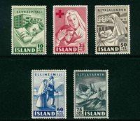Island - AFA 255-259 - Postfrisk