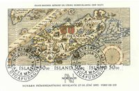 Island - AFA 739 - Stemplet miniark
