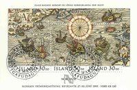 Island - AFA 706 - Stemplet miniark