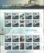 Canada - EMPRESS OF IRELAND SHL - Ark postfrisk