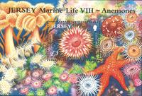 Jersey - Søanemoner - Postfrisk miniark