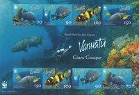 Vanuatu - WWW poissons - Bloc-feuillet neuf