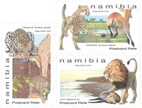 Namibie - Grands félins - Série neuve 3v