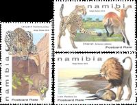 Namibia - Felinos - Serie 3v. nuevo