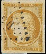 Frankrig 1850 -  YT 1 - Stemplet