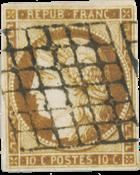 Frankrig 1850 -  YT 1b - Stemplet