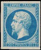 Frankrig 1860 - YT 14B - Ubrugt