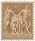 Frankrig 1876 -  YT 69 - Ubrugt