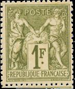 France - 1876 -  YT 72 - Neuf avec charnière, charnière minimal