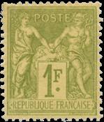 Frankrig 1883 -  YT 82 - Ubrugt